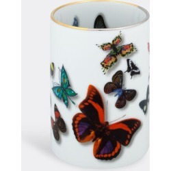 Vista Alegre Desktop Tools - 'Butterfly Parade' pencil holder in multicolor porcelain found on Bargain Bro from wallpaper for £56