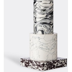 Tom Dixon Vases - 'Swirl' vase, small in multicolor powdered marble found on Bargain Bro UK from wallpaper