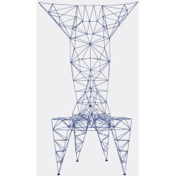 Tom Dixon Furniture - 'Pylon' chair in Blue Powder Coated Steel Rods