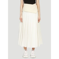 female White 62% Cotton, 38% Polyamide. Lining: 100% Silk. Dry clean. found on Bargain Bro UK from LN-CC (UK)