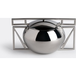 Riva Tea And Coffee - 'Trama' sugar bowl and spoon in Stainless steel Stainless Steel 18/10