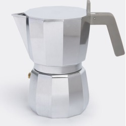 Alessi Tea And Coffee - 'Moka' espresso coffee maker, six cups in Silver stainless steel