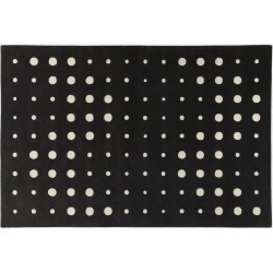 Amini Carpets Textile And Rugs - 'Bubbles' rug 2, black and white in black, white Wool