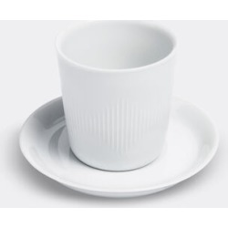 Lyngby Porcelæn Tea And Coffee - 'Thermodan' coffee cup and saucer in Glossy white Porcelain