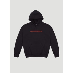 GUT Magazine Embroidered Hooded Website Sweater in Black size M