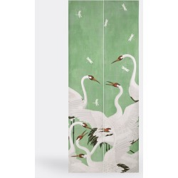 Gucci Textile And Rugs - 'Heron' print wallpaper, green in green Wallpaper