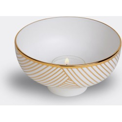 1882 Ltd Candlelight And Scents - 'Lustre' tealight, gold Dhow in White/Gold Fine Bone China found on Bargain Bro UK from wallpaper