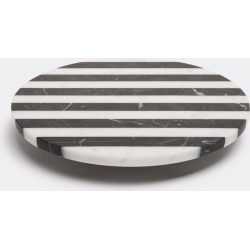 Editions Serving And Trays - 'Alice' cake stand, small in Black, white Marble found on Bargain Bro from wallpaper for £311