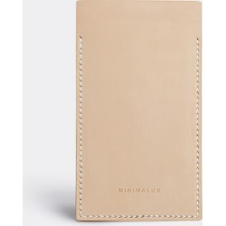 Minimalux Tech And Tools - Leather iPhone 6 sleeve in Natural leather Untreated Natural vegetable ta
