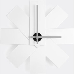 Normann Copenhagen Mirrors and Clocks - 'Watch Me' wall clock, white in White Powder Coated Aluminum