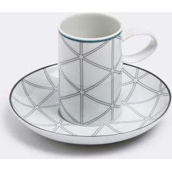 Vista Alegre Tea And Coffee - 'Orquestra' coffee cup and saucer in White, Grey Porcelain