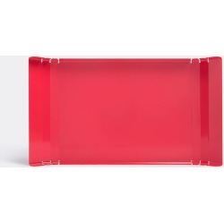 Internoitaliano Serving and Trays - 'Lasa' tray in Red Painted metal found on Bargain Bro UK from wallpaper