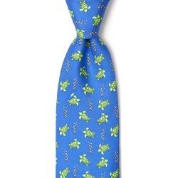 Sea Turtles Tie by Alynn -  Blue Silk