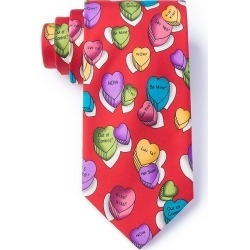 Little Candy Hearts Tie by Wild Ties -  Red Microfiber