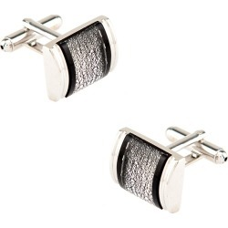 Mayfair Cufflinks by Silk Rhino -  Black Metal