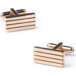 Barred Up Cufflinks by Enrico Pardini -  Rose gold Metal