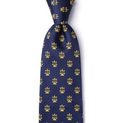 Justice Served Tie by Alynn -  Navy Blue Silk found on Bargain Bro India from Ties.com for $70.00