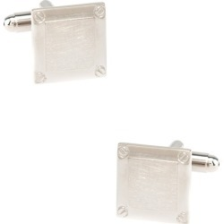 Bolted Square Cufflinks by Silk Rhino -  Silver Metal