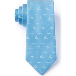 Whale Tails Tie by Wild Ties -  Blue Microfiber
