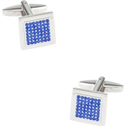 Many Facets Cufflinks by Principessa Regale -  Blue Metal