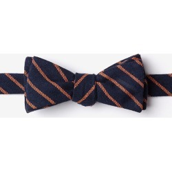 Arcola Skinny Bow Tie by Ties.com -  Navy blue Cotton found on Bargain Bro Philippines from Ties.com for $20.00
