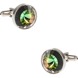 Rounded Peaks Cufflinks by RM Style -  Multicolor Metal