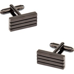 Barred Up Cufflinks by Enrico Pardini -  Gunmetal Metal