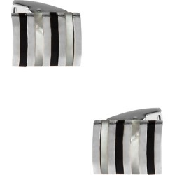 Hawking Striped Cufflinks by American Necktie Co. -  White Metal
