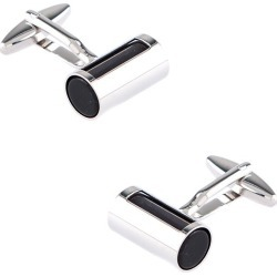 SLEEVED BARREL Cufflinks by Peter Hayer -  Silver Metal