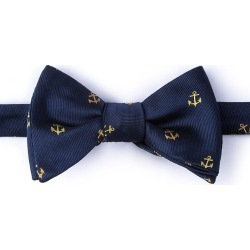What's the hold up Self-Tie Bow Tie by Alynn -  Navy Blue Silk