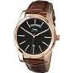 Limit Men's Quartz Watch with Black Dial Analogue Display and Brown PU Strap 5484.01