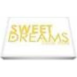 ART Feel Good Art A4 Deep Box Canvas Nursery Sweet Dreams Wall Art (30 x 20 x 4 cm, Yellow)