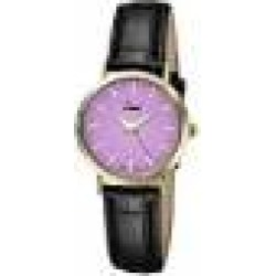 Limit Women's Quartz Watch with Purple Dial Analogue Display and Black PU Strap 6132.01