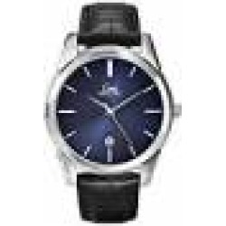 Limit Men's Quartz Watch with Blue Dial Analogue Display and Black Polyurethane Strap 5652.01