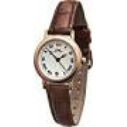 Limit Women's Quartz Watch with White Dial Analogue Display and Brown Leather Strap 6007.01