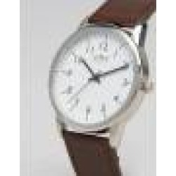 Limit Leather Watch In Brown Exclusive To ASOS - Brown