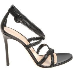 Gianvito Rossi Lace Insert Sandals