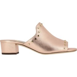 Heeled Sandals Jimmy Choo Myla Sandals In Laminated Leather With Metal Studs