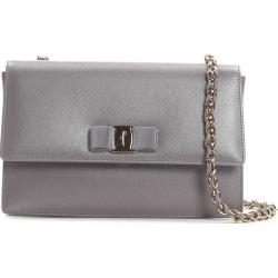 Salvatore Ferragamo Large Ginny Saffiano Leather Bag