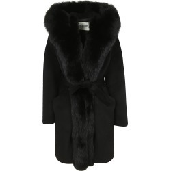 Ava Adore Phebe Fox Fur Trim Coat found on MODAPINS from Italist for USD $1223.65