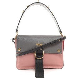 Moschino Colorblock Leather Shoulder Bag