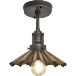 Brooklyn Umbrella Flush Mount Light Brooklyn Umbrella Flush Mount - 8 Inch - Brass - Pewter Holder found on Bargain Bro UK from Clippings