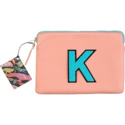 Laines London - Personalised Medium Classic Leather Clutch Bag - Pink / Blue found on Bargain Bro UK from Wolf and Badger