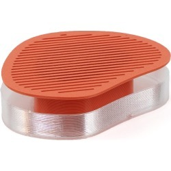 Batch. works - Flocflac - 3D Printed Small Plant Tray In Salmon Orange