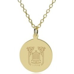 College of Charleston 14K Gold Pendant and Chain