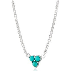 Scream Pretty - Silver Turquoise Trinity Necklace With Slider Clasp found on Bargain Bro from Wolf & Badger US for USD $47.88
