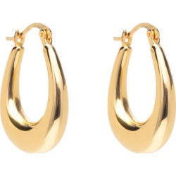 Ella Palm - Glossy Gabrielle 18K Gold Dome Hoop Earrings found on Bargain Bro from Wolf & Badger US for USD $94.24