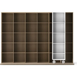 LTL430 Literatura Light Bookcase White Open Pore Lacquered On Oak, Whitened Oak found on Bargain Bro UK from Clippings