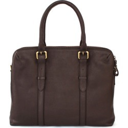 Nappa Dori - Dual Zip Laptop Dark Brown Leather found on MODAPINS from Wolf & Badger US for USD $541.00