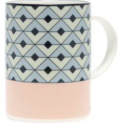 O.W. London - Tile Blush & Duck Egg Mug found on Bargain Bro UK from Wolf and Badger